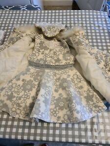 Little Girls Dress And Coat Set Age 2