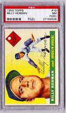 1955 Topps #19 Billy Herman - Near Mint - PSA 7