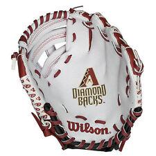 "Arizona Diamondbacks Wilson Youth 10"" Tee Ball Glove - White - MLB"