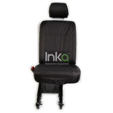 VW Transporter T5 LHD 2nd Row Single Inka Tailored Waterproof Seat Cover Black