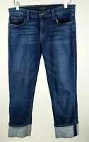 Joe's Jeans Women's 30 Medium Wash Cropped Capri Rolled Denim Blue Jeans