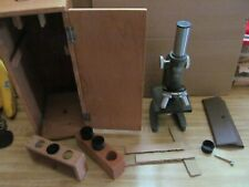 Fabulous Vintage Bushnell Model 90-5010 Science Microscope, Accessories & Case
