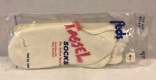 Vintage Peds Tassel Sport Socks low cut White Women's socks fits size 8 -11