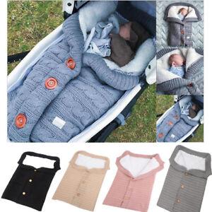 Baby Newborn Knitted Wrap Swaddle Blanket Sleeping bag for PRAM BUGG