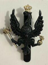 1990' s Kings Royal hussars Cap Badge Black Slider Gaunt London