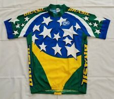 Men Size Large Multicolor GB Cycling Wear Brasil 1/4 Zip Cycling Jersey preowned