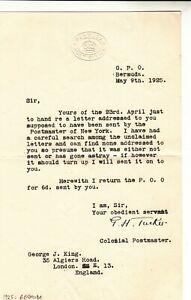 Bermuda / Postmaster G.H.Tucker / George J.King