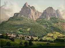 Tirol. Seis mit Schlern. PZ vintage photochromie, photochrom photochromie, vin