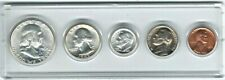 1962P US Mint Uncirculated 5 Coin Set, 90% SILVER except Nickle&Cent Very Nice