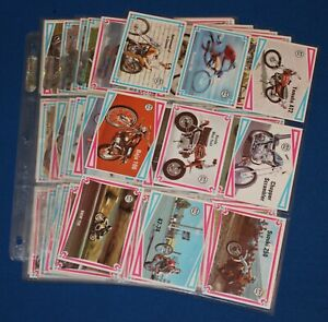 1974 Scanlens Choppers & Hot Bikes Cards Full Set (60/66)  Excellent / Near Mint