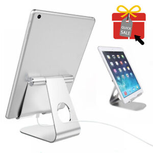 Adjustable Bed Desk Table Stand Tray Aluminum Holder Mount for iPad Tablet Phone