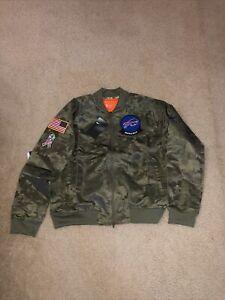 Nike NFL Buffalo Bills Salute Service Camo Jacket AT7863-222 Sz M Womens NEW