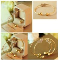 Bows Bracelet Love Heart For Ladies Jewelry Bracelet Bangles Gold Plated
