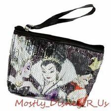 Disney Store Designer Villains Sequin Cosmetic Bag Tote Evil Queen Hearts Ursula