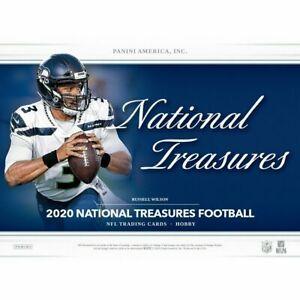 GIANTS 2020 National Treasures Football 4 BOX Hobby Case TEAM Break #4