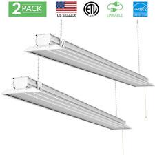 """Paquete De 2-utilidad de luz de Tienda plana SunCo 48"""" LED 40W (300W) 5000K (Luz de día)"""