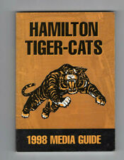 1998 Hamitlton Tiger Cats Fact Book  Media Guide Fact Book CFL