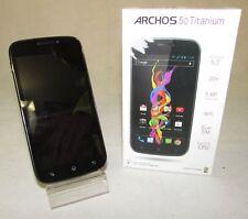 """ARCHOS 50 TITANIUM 5"""" 4GB MOBILE PHONE - UNLOCKED BLACK AC50TI RF2019"""
