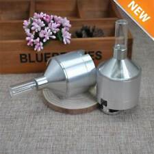 Metal Powder Grinder Hand Mill Funnel with Snuff Glass Bottle