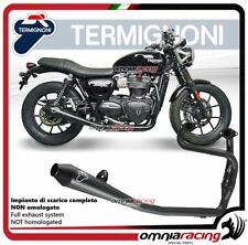 Termignoni CONICAL Tubo de Escape acero racing para Triumph STREET TWIN 2016>