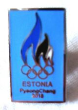 Pyeongchang 2018 Olympic Team Pin: Estonia Blue