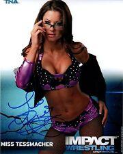 Miss Tessmacher (Brooke Adams) Signed Autograph TNA Impact P-38 8x10 Promo Photo