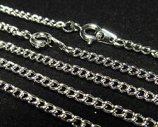 Wholesale 10 Pcs 18 Inch Rhodium Silver Plated Curb Chain  Necklace Lot