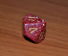 chessex dadi dado dice - d10 - 10 facce - rosso/bianc - d&d - magic - warhammer