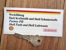 PORSCHE 911 Lüfter Hüllen Gehäuse Öl Füllung Aufkleber 125x50mm
