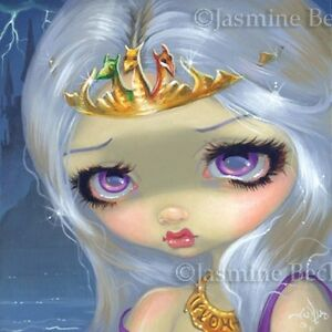 Fairy Face 174 Jasmine Becket-Griffith Queen Fantasy Princess SIGNED 6x6 PRINT
