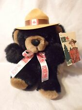 "RCMP Candian Mountie Teddy Bear 7"" Plush Soft Toy Stuffed Animal"
