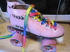 Pink Girl Speed Skates size 1, heel to  toe 8 inches