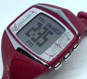 Polar FT60 30m RED Silver Digital GPS Fitness Tracker Quartz Smart Watch Hours