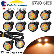 10X 5730 6 LED Eagle Eye Light Dual Color White&Amber Switchback DRL Lamp US