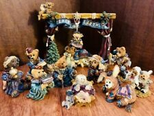 Boyds Bears & Friends Nativity series 13 Piece Set With Original Boxes