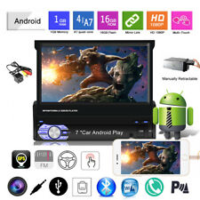 7''1 Din GPS Android Car Radio+CAM Touch Screen FM BT Wireless Mirror Link Wifi