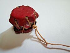 "Vintage Miniature Native Toy Drum Leather Tom Tom Hide 1.25"""