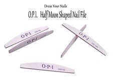 """OPI Nail File"" HALF MOON Shaped Grey Gel Polish Art DIY 100/180 Tools NF-0118"