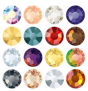 Genuine PRECIOSA Chaton Rose MAXIMA Flat Backs No Hotfix Crystal Effects Colors