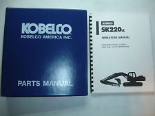 Kobelco Excavator OPERATORS & PARTS MANUAL SK220LC Factory Shop Service Catalog