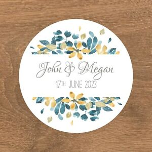 Personalised Wedding Stickers Favour Labels (E-006)