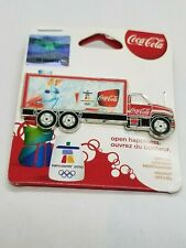 VANCOUVER 2010 OLYMPIC - FIGURE SKATING COCA COLA TRUCK PIN - ON ORIGINAL CARD