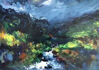 ORIGINAL PAINTING  Acrylic On Canvas  'Waterfall On The Brecon Beacons' 40x30cm
