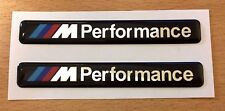 2 x BMW M Performance Stickers/Decals - 85mm HIGH GLOSS DOMED GEL FINISH
