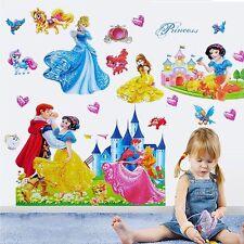 Large Princess Castle Wall Sticker Mural Decor Art Vinyl Decal Kids Room Decor