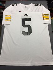Vtg 90s Russell Athletics Iowa Hawkeyes Football Jersey #5 Size Xl White Vintage