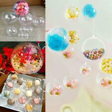 10x Fillable Ball Ornament Acrylic Transparent Baubles For Valentine's Day