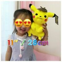 "Detective Pikachu Plush Doll - 2019 Official Pokémon Stuffed Toy 11"" - SALE!"