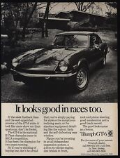 1971 TRIUMPH GT-6 Sports Car - Looks Good In Races Too - VINTAGE AD