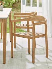 Cox & Cox Two Acacia Dining Chairs Modern Furniture Acacia Wood - RRP £395